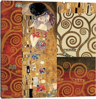 Klimt Details (The Kiss) Canvas Art Print