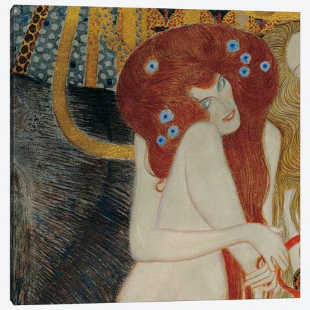 Beethoven Frieze, Square Detail Canvas Print #GKL2} by Gustav Klimt Art Print