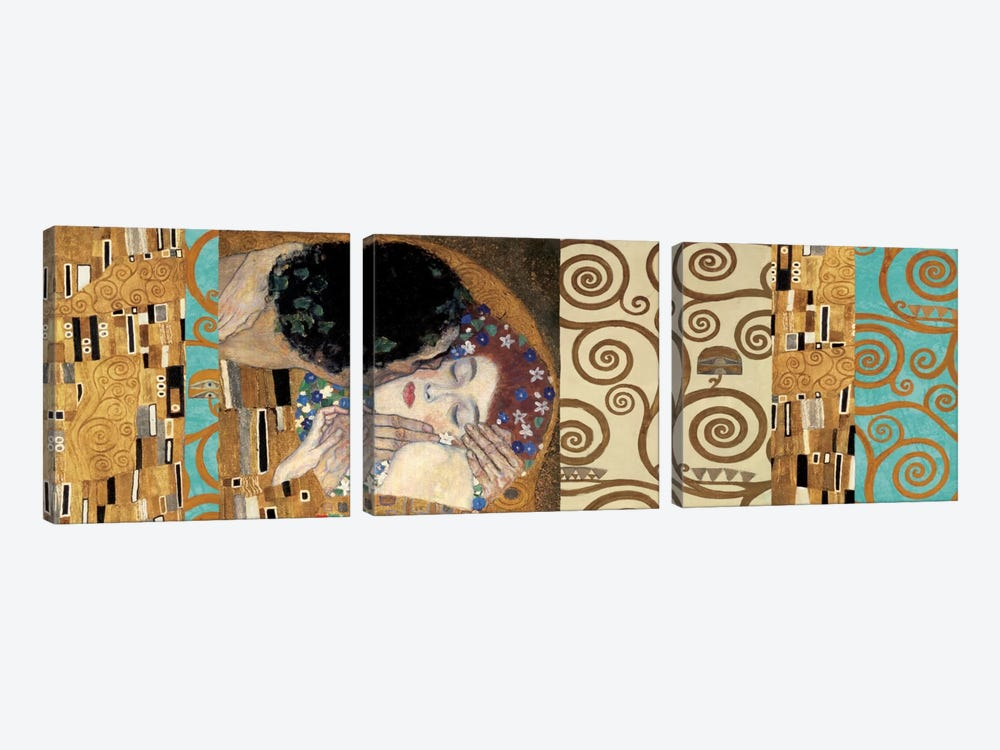 Klimt 150 Anniversary II by Gustav Klimt 3-piece Canvas Art Print