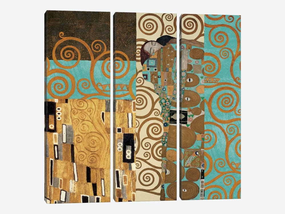 Klimt 150 Anniversary III by Gustav Klimt 3-piece Canvas Artwork