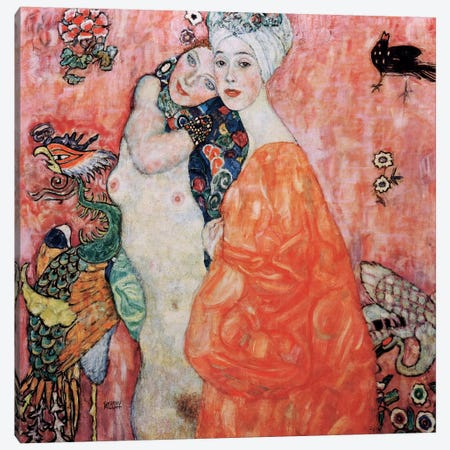 The Friends (Die Freundinnen) 1916 Canvas Print #GKL37} by Gustav Klimt Canvas Artwork