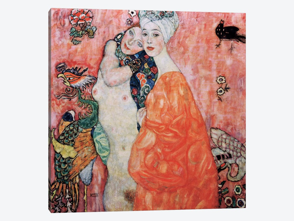 The Friends (Die Freundinnen) 1916 by Gustav Klimt 1-piece Canvas Art