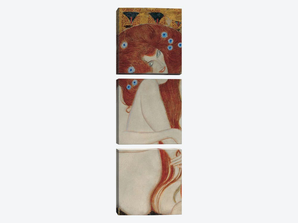 Beethoven Frieze, Rectangle Detail by Gustav Klimt 3-piece Art Print
