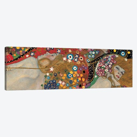 Sea Serpents, Detail I Canvas Print #GKL41} by Gustav Klimt Canvas Wall Art