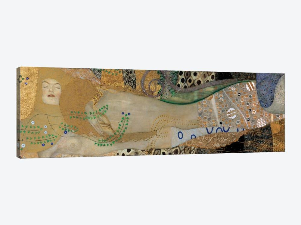 Sea Serpents, Detail II by Gustav Klimt 1-piece Canvas Art