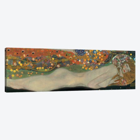 Sea Serpents, Detail IV Canvas Print #GKL44} by Gustav Klimt Canvas Print