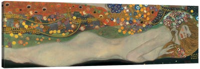 Sea Serpents, Detail IV by Gustav Klimt Canvas Art Print