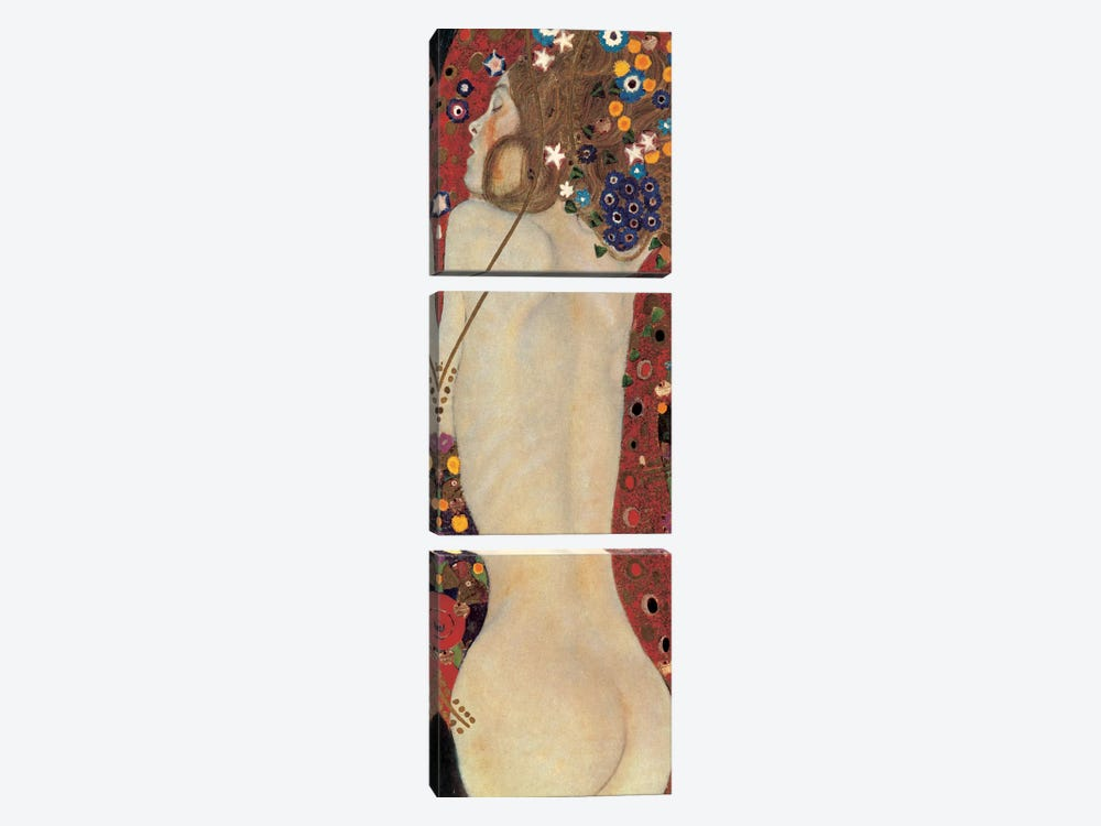 Sea Serpents, Detail V by Gustav Klimt 3-piece Canvas Art