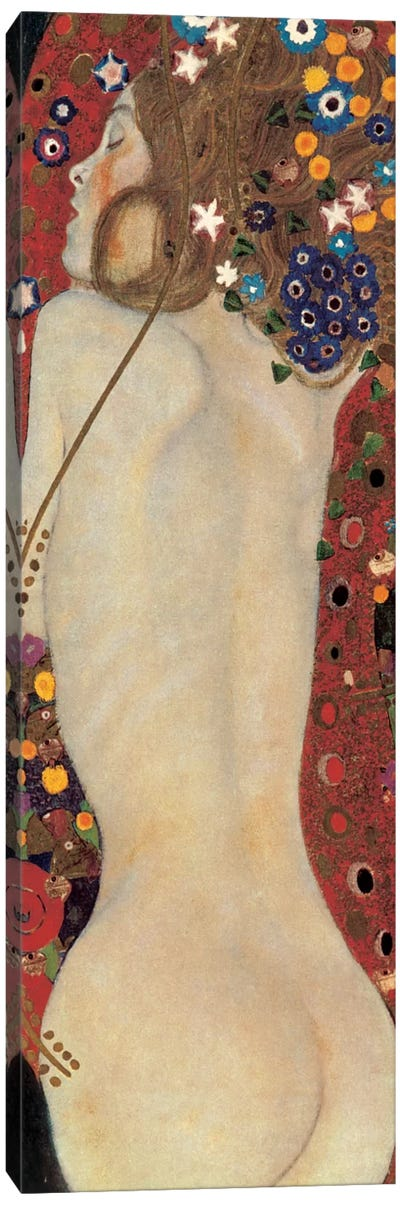 Sea Serpents, Detail V by Gustav Klimt Canvas Art Print
