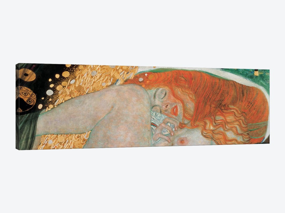 Danae, Horizontal by Gustav Klimt 1-piece Canvas Wall Art