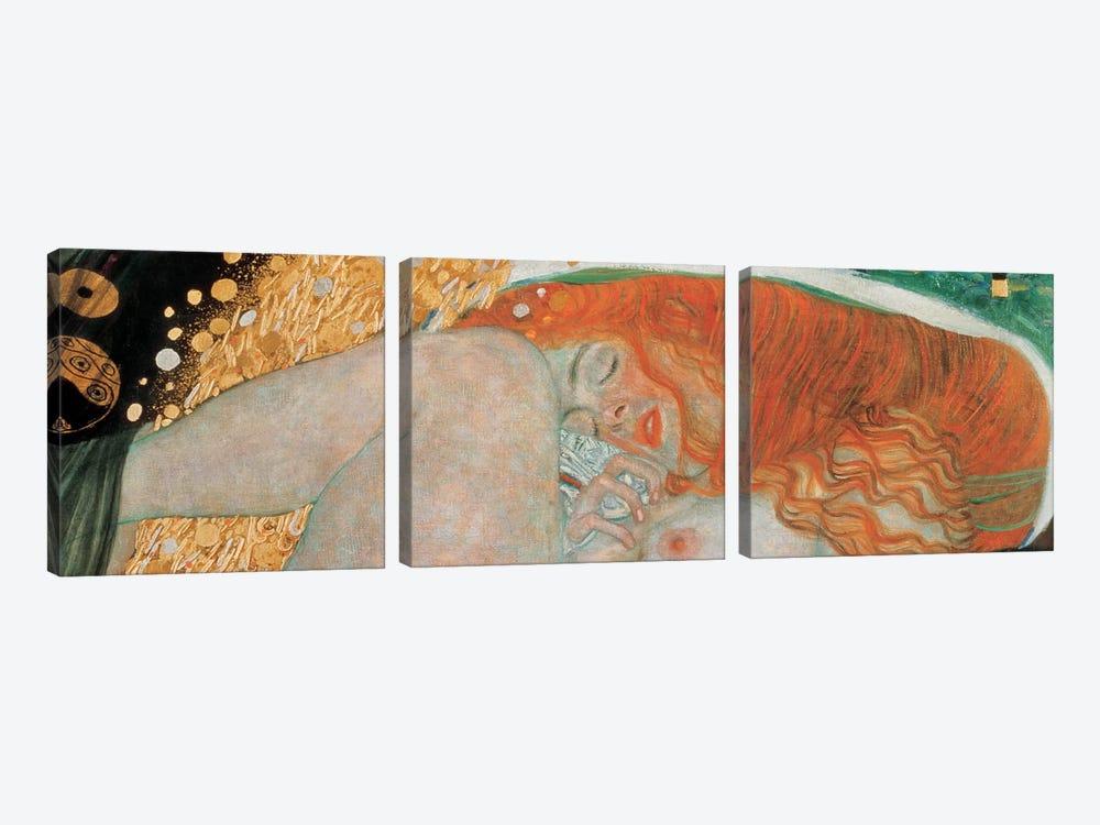 Danae, Horizontal by Gustav Klimt 3-piece Canvas Artwork