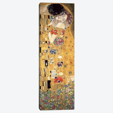 The Kiss, Cropped Vertical Canvas Print #GKL50} by Gustav Klimt Canvas Print