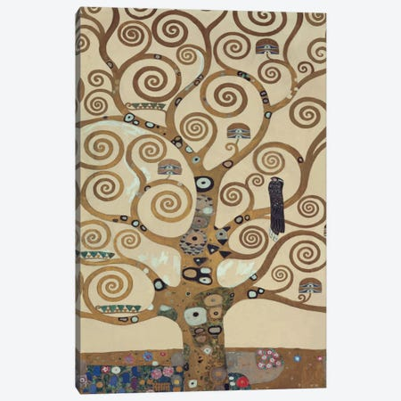 The Tree Of Life, Tree Detail Canvas Print #GKL51} by Gustav Klimt Canvas Art Print