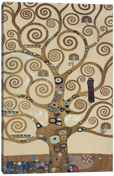 The Tree Of Life, Tree Detail by Gustav Klimt Canvas Art Print