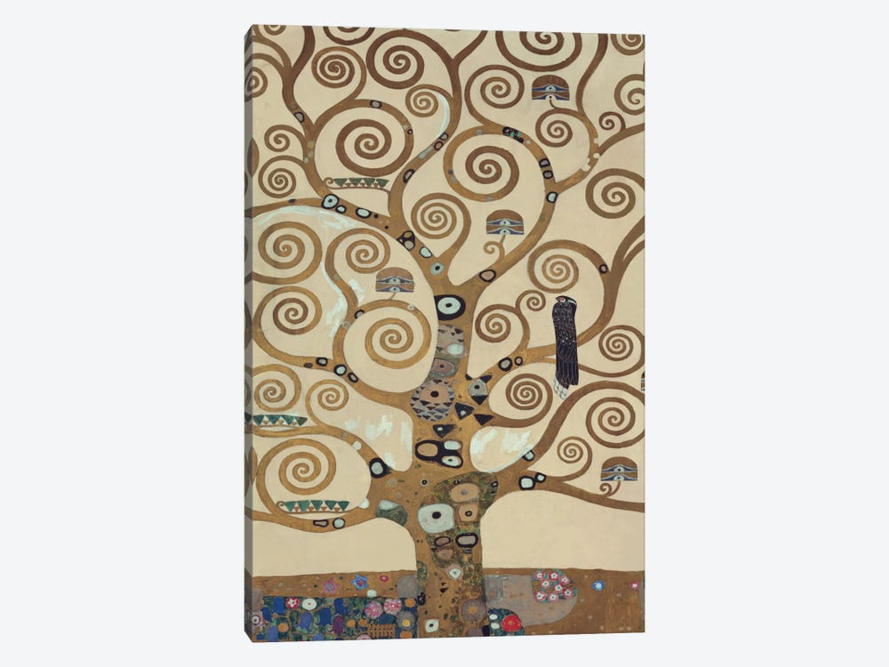 The Tree Of Life, Tree Detail by Gustav Klimt 1-piece Canvas Art