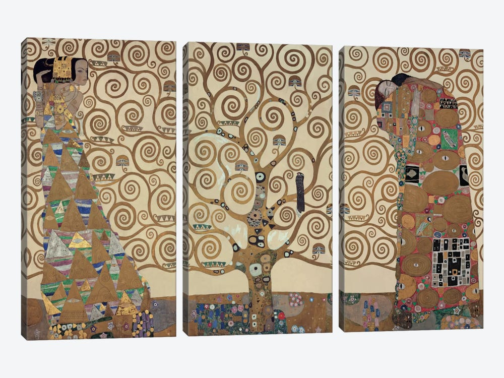 The Tree Of Life by Gustav Klimt 3-piece Canvas Print