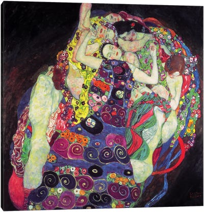The Virgin, 1913, Square  by Gustav Klimt Canvas Art Print