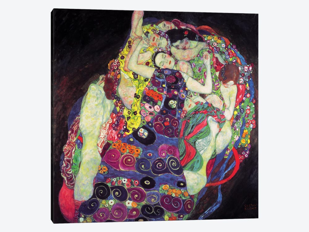 The Virgin, 1913, Square  by Gustav Klimt 1-piece Canvas Artwork