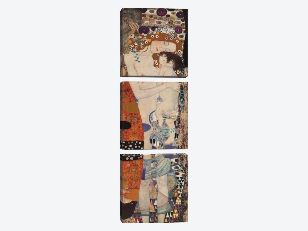 Three Ages Of Woman, Vertical by Gustav Klimt 3-piece Art Print