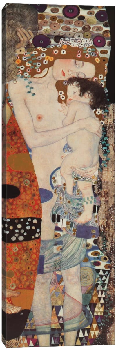 Three Ages Of Woman, Vertical by Gustav Klimt Canvas Art Print