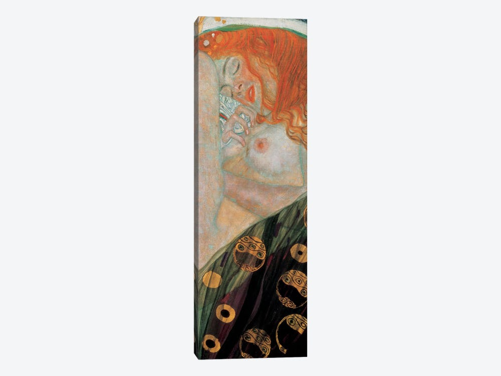 Danae, Vertical by Gustav Klimt 1-piece Canvas Art Print