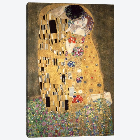 Der Kuss Canvas Print #GKL6} by Gustav Klimt Canvas Wall Art