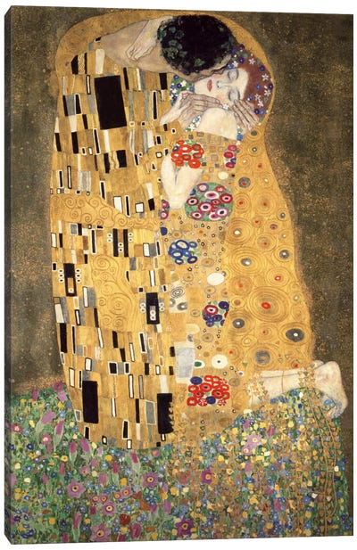 Der Kuss by Gustav Klimt Canvas Art Print