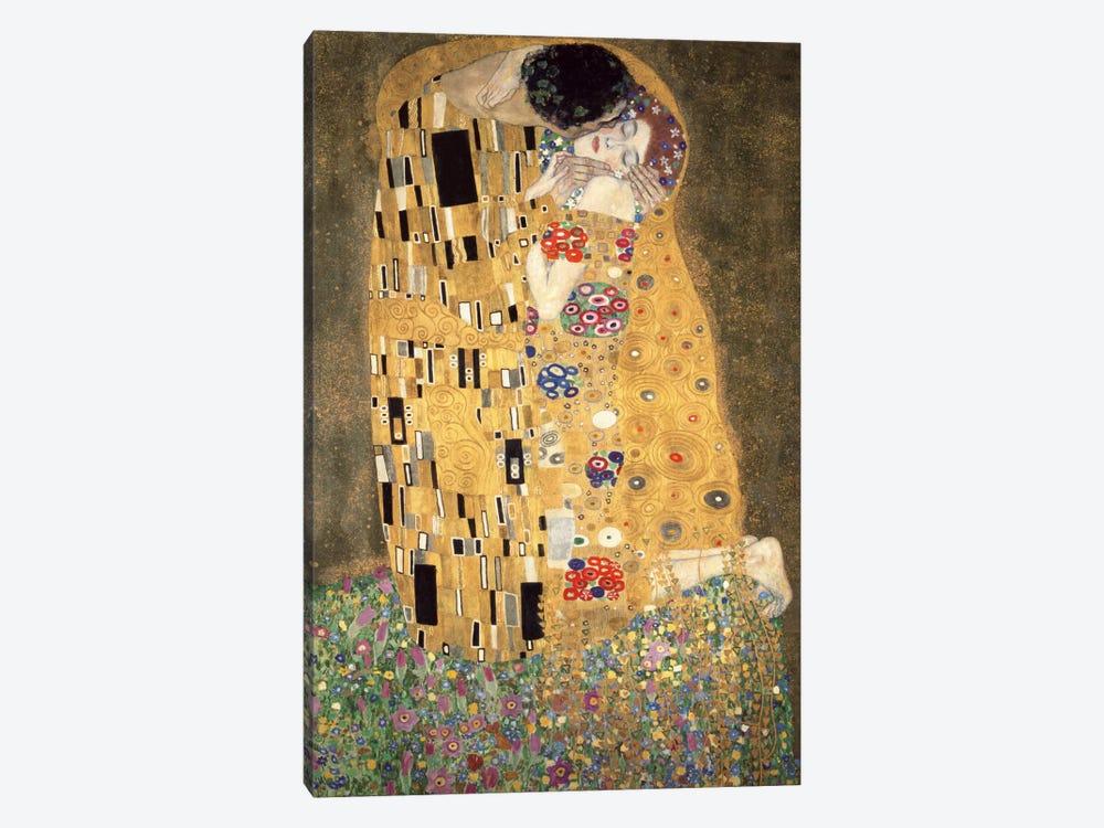 Der Kuss by Gustav Klimt 1-piece Canvas Wall Art