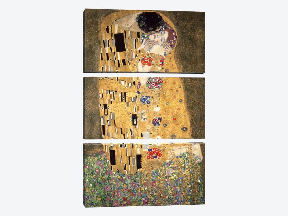 Der Kuss by Gustav Klimt 3-piece Canvas Art