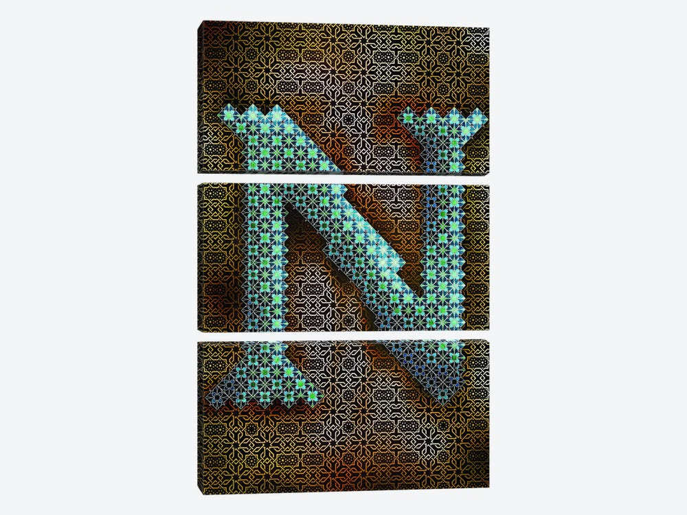 N by 5by5collective 3-piece Canvas Print