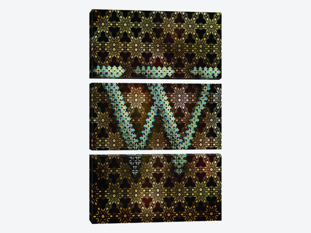 W by 5by5collective 3-piece Canvas Print