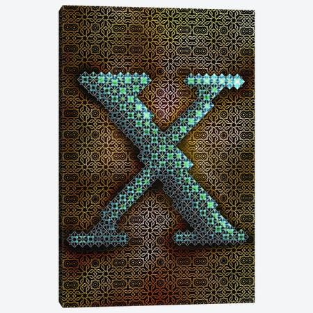 X Canvas Print #GLA25} by 5by5collective Art Print