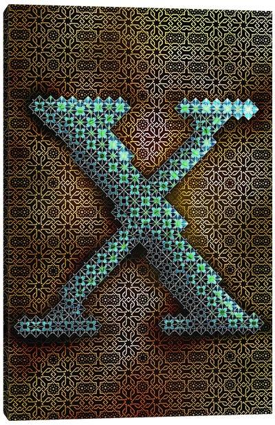 X Canvas Print #GLA25