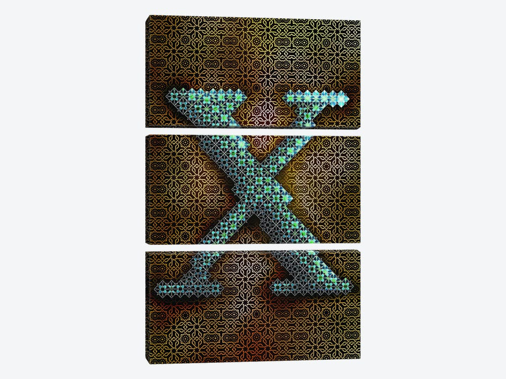 X 3-piece Canvas Wall Art