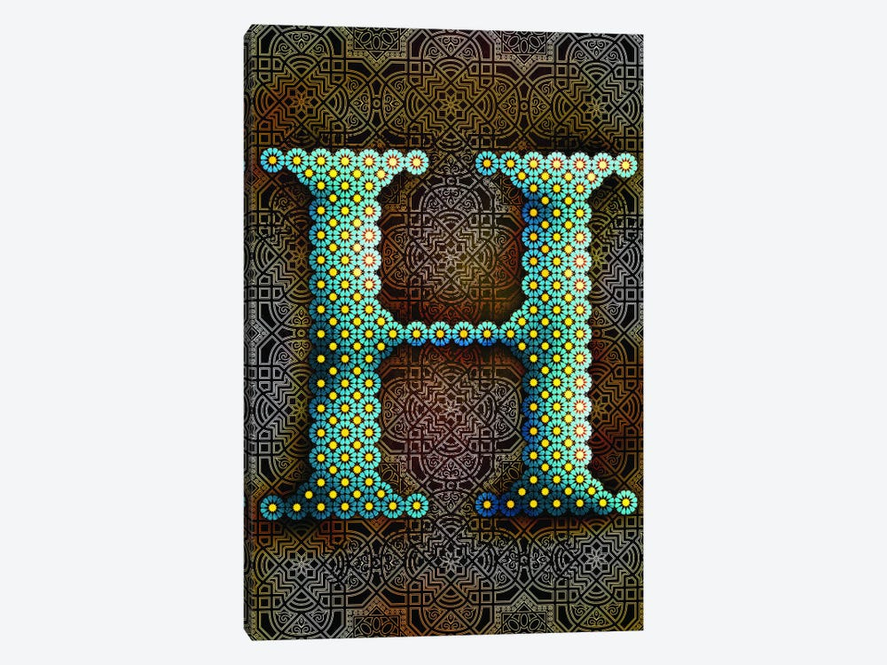 H by 5by5collective 1-piece Canvas Print