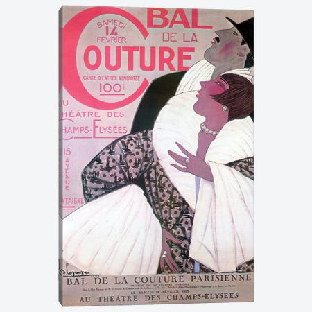 Bal de la Couture, 1925 Canvas Print #GLE1} by Georges Lepape Canvas Art Print