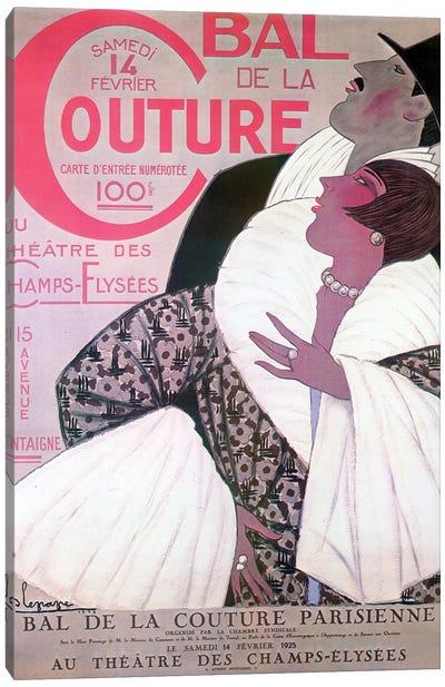 Bal de la Couture, 1925 Canvas Art Print