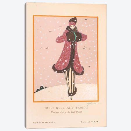 Gazette du Bon Ton Canvas Print #GLE2} by Georges Lepape Canvas Print