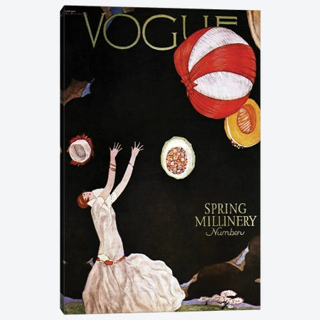 Vogue Spring Millinery, 1925 Canvas Print #GLE4} by Georges Lepape Canvas Art