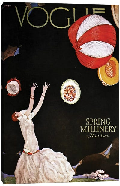 Vogue Spring Millinery, 1925 Canvas Art Print