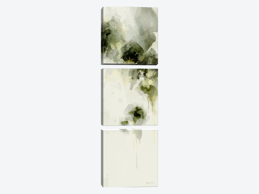Misty Abstract Morning I by Green Lili 3-piece Canvas Art