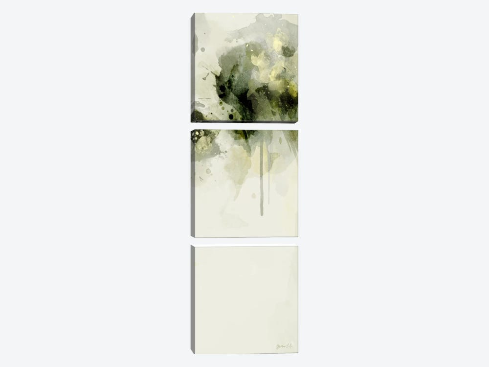 Misty Abstract Morning II by Green Lili 3-piece Canvas Print