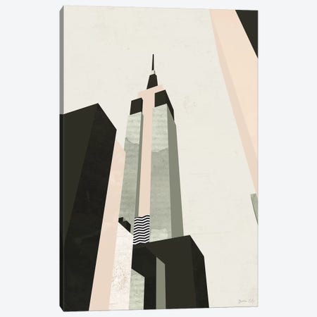 Graphic New York I Canvas Print #GLI22} by Green Lili Canvas Artwork