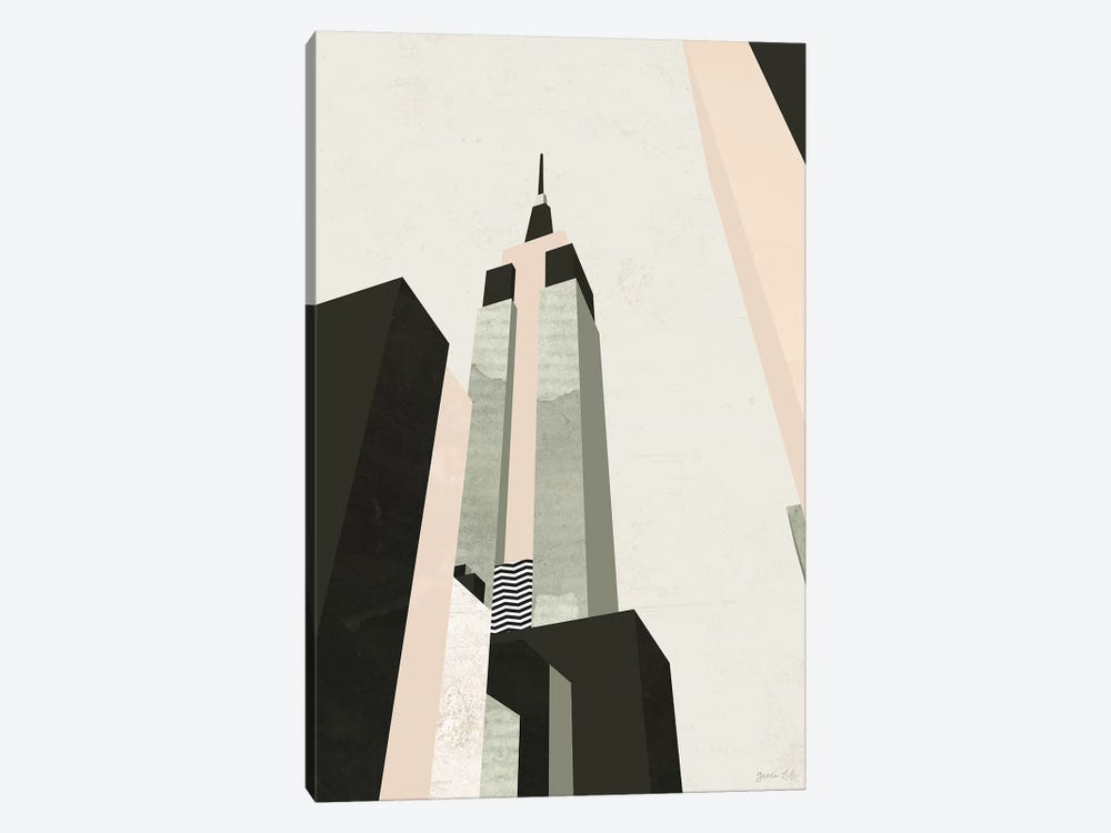 Graphic New York I by Green Lili 1-piece Canvas Art