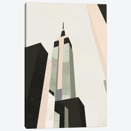 Graphic New York I Canvas Print #GLI22} by Green Lili Canvas Artwork