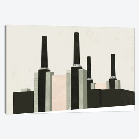 Graphic New York V Canvas Print #GLI26} by Green Lili Art Print