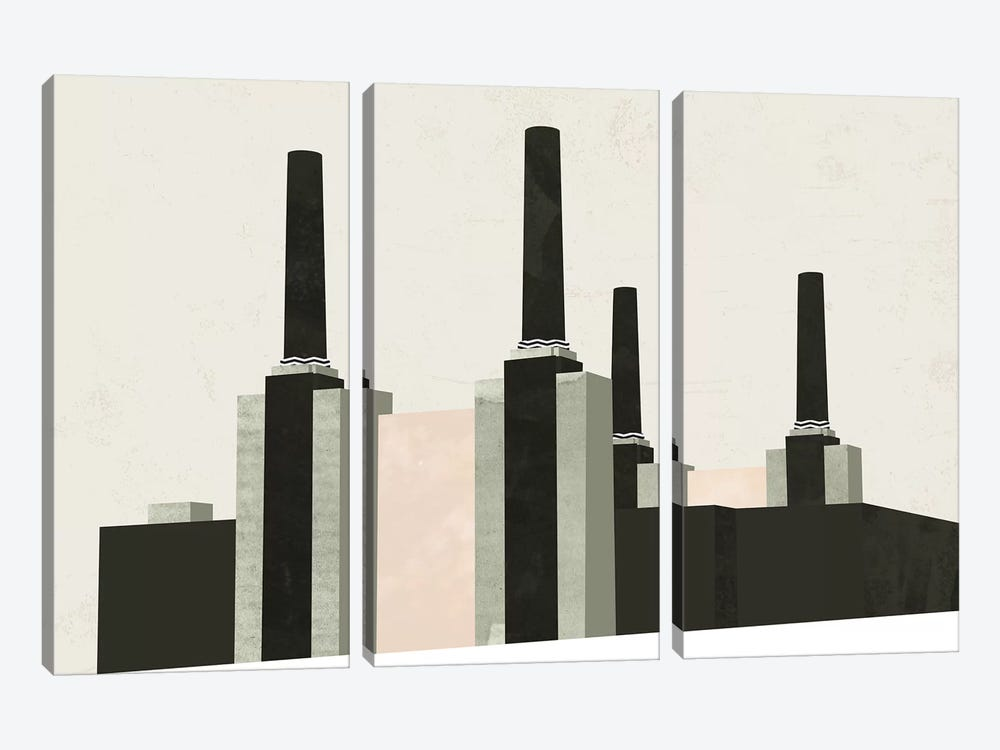 Graphic New York V by Green Lili 3-piece Canvas Wall Art