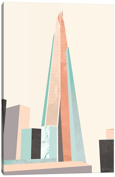 Graphic Pastel Architecture I Canvas Art Print