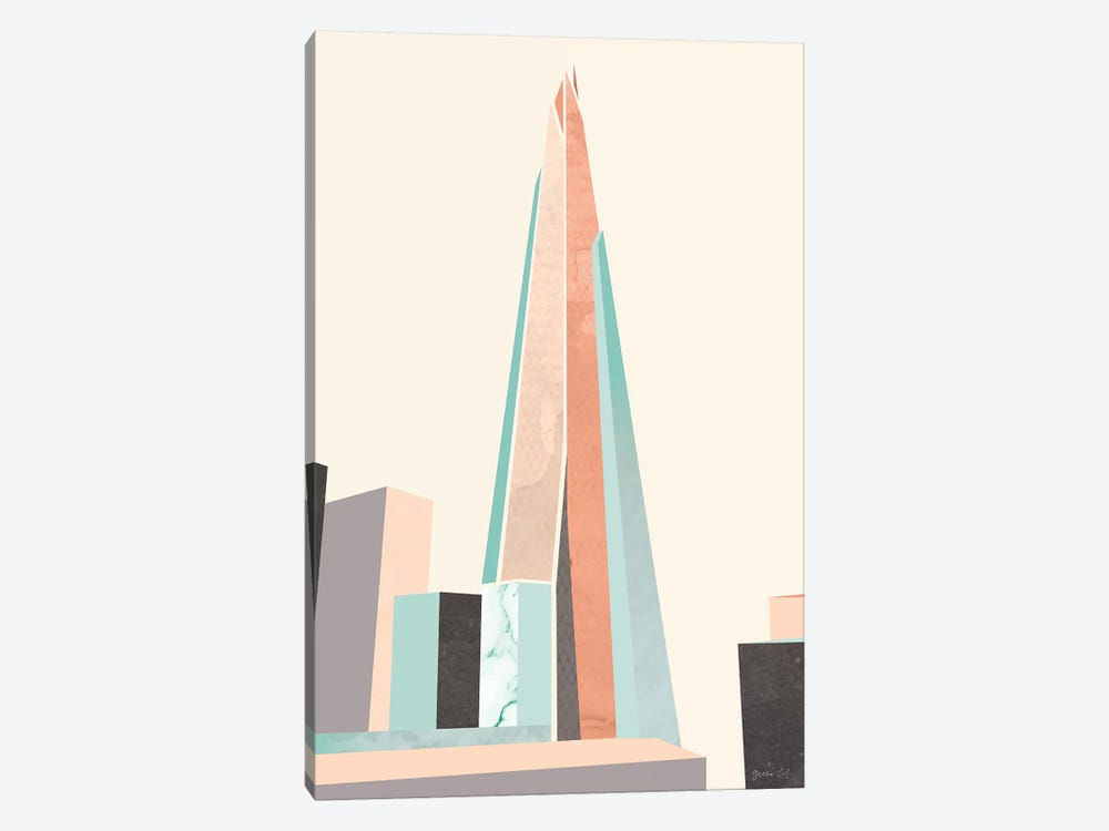 Graphic Pastel Architecture I by Green Lili 1-piece Art Print