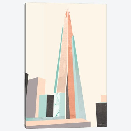 Graphic Pastel Architecture I Canvas Print #GLI27} by Green Lili Art Print